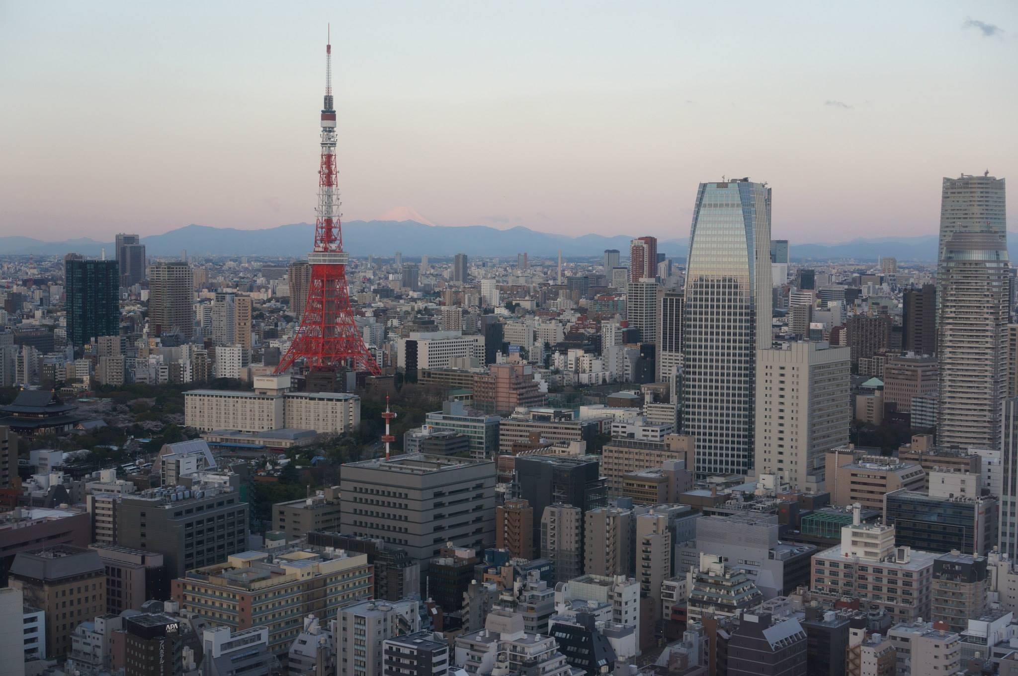 Tip: Stay at the Park Hotel Tokyo and pay the small upgrade fee for a room with a view.