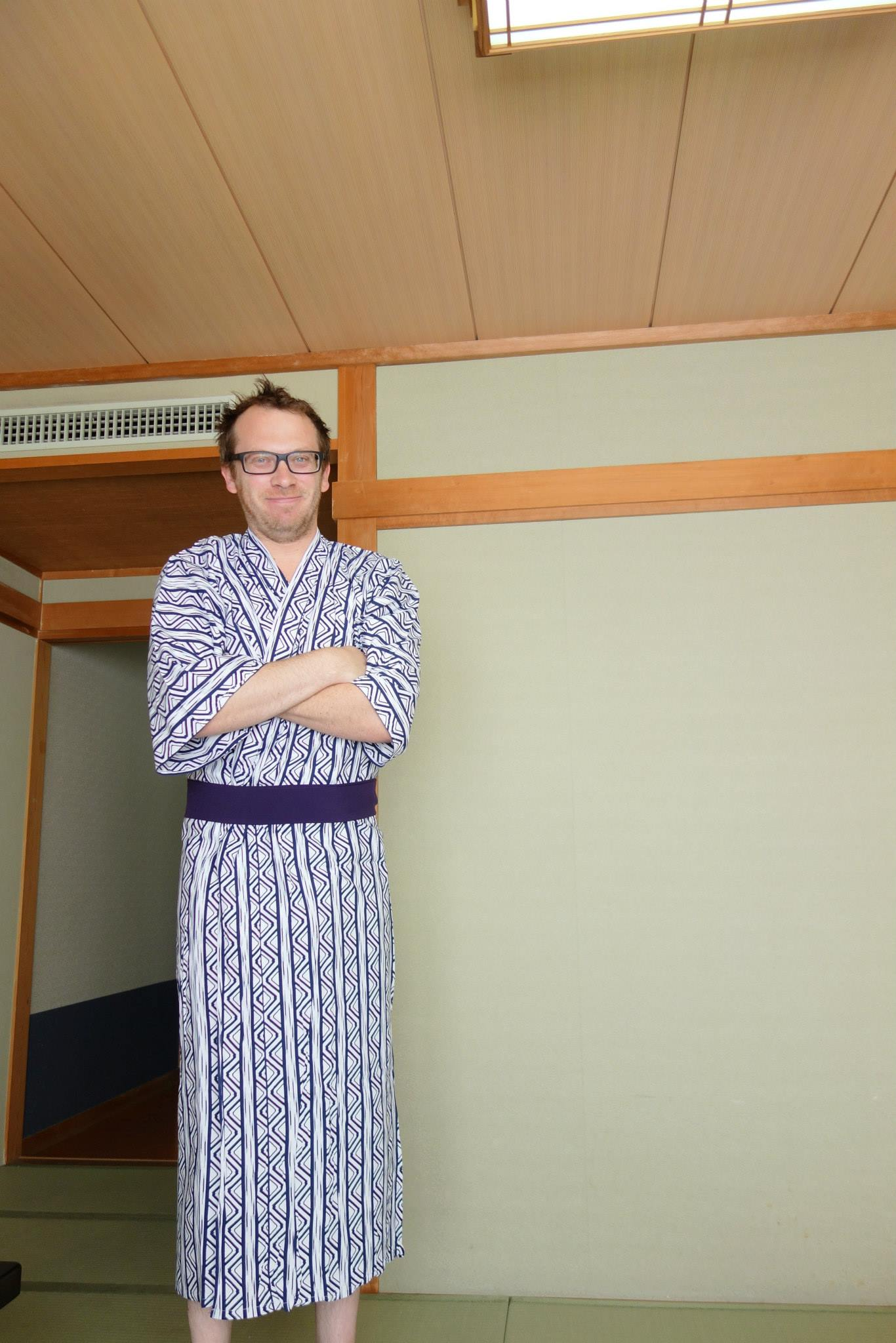 Staying at a ryokan in our yakatas
