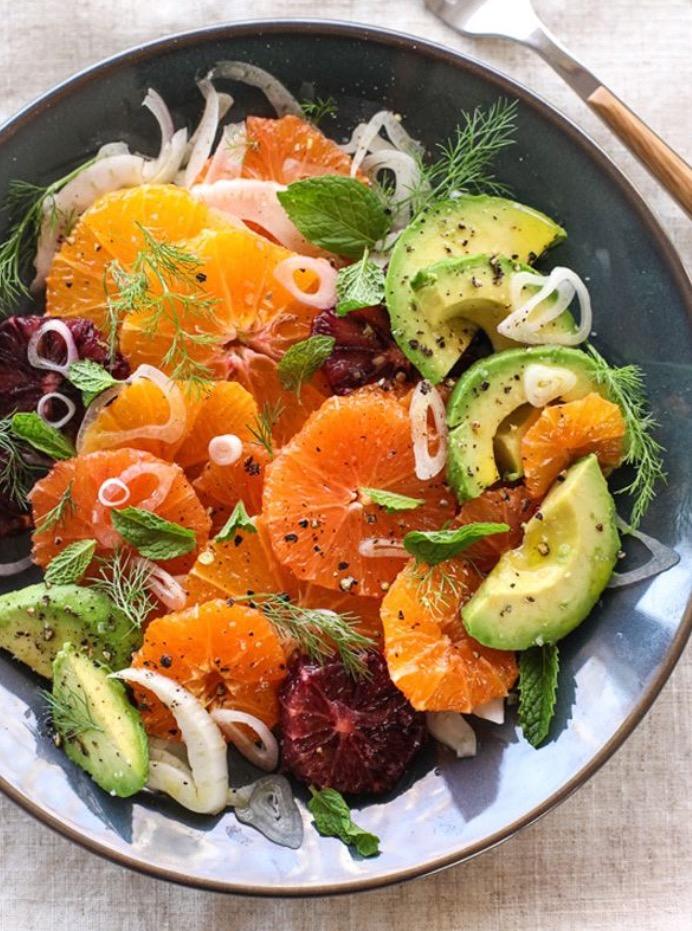 Citrus Fennel and Avocado Salad (via Foodiecrush)