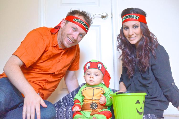 TMNT Family Costume - TheFebruaryFox.com