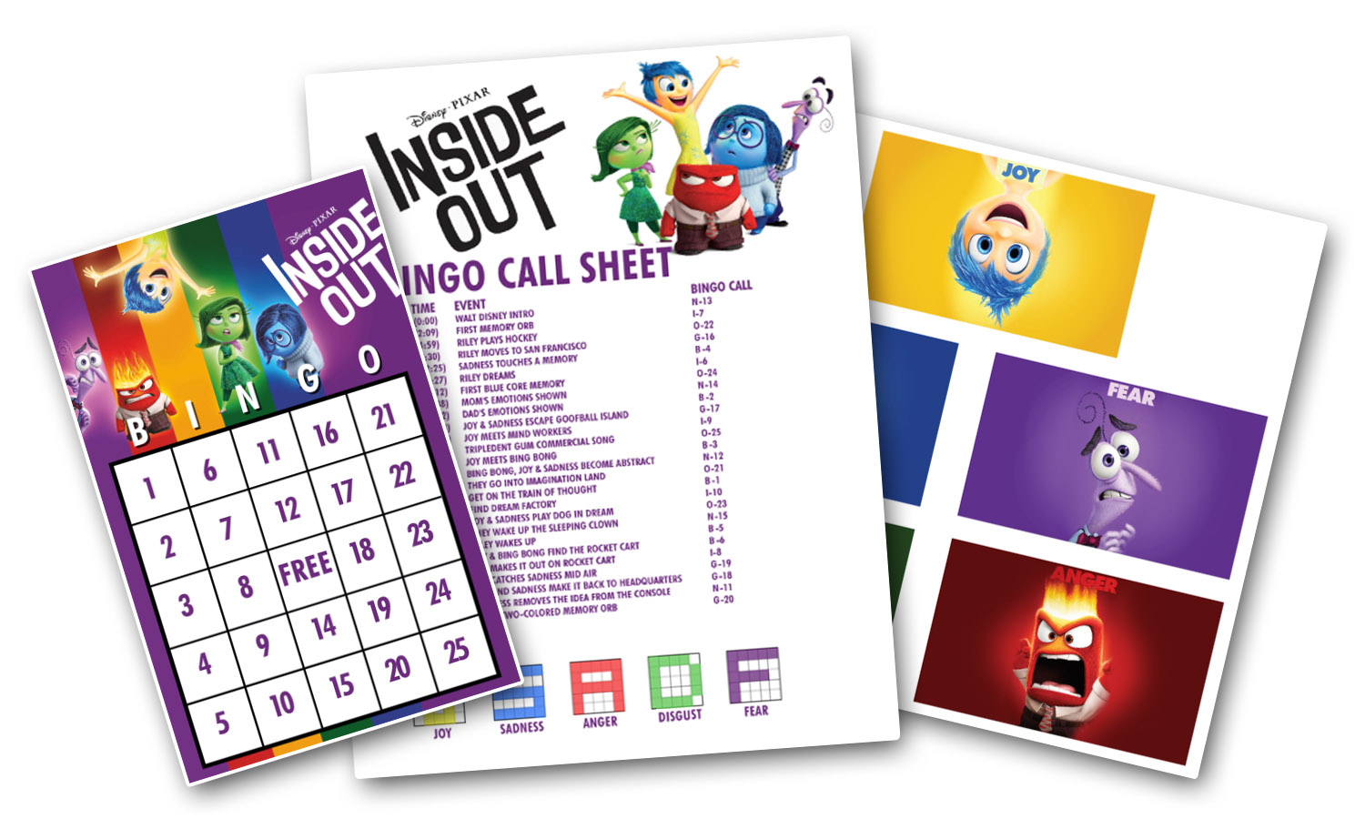 Inside Out Bingo Printables - The February Fox