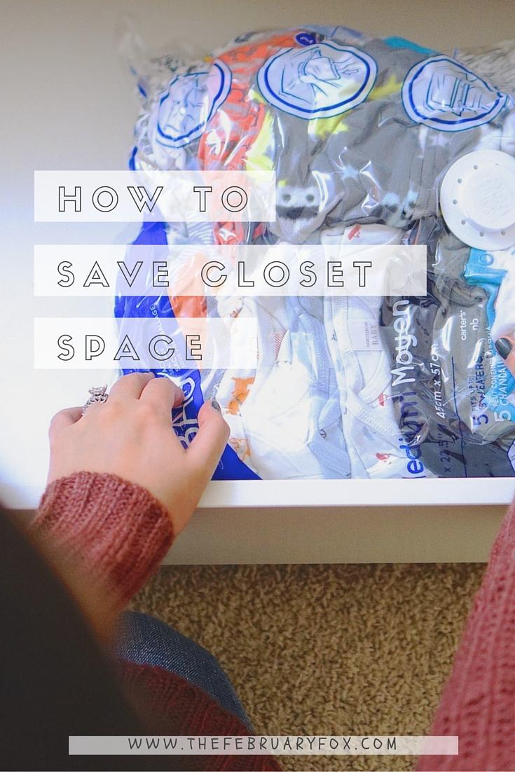 How to Save Closet Space - TheFebruaryFox.com