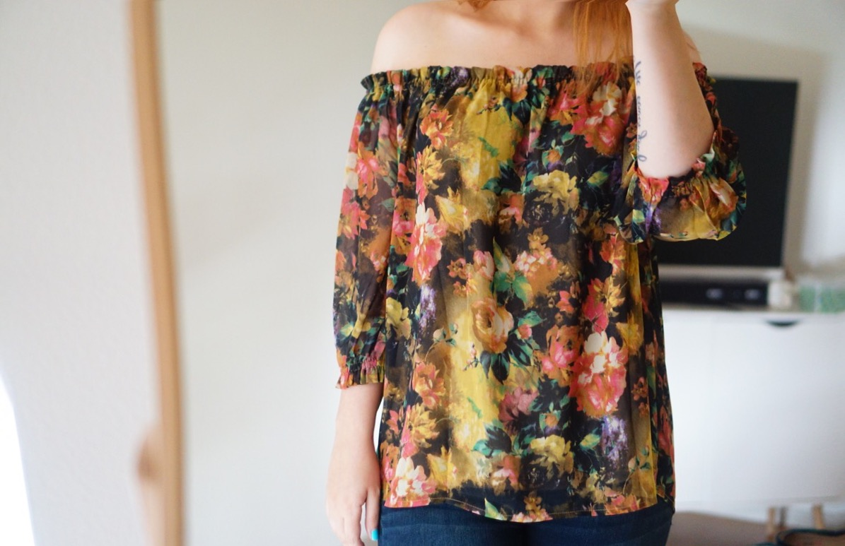 Stitch Fix Alice Blue Kortnie Off The Shoulder Top - TheFebruaryFox.com