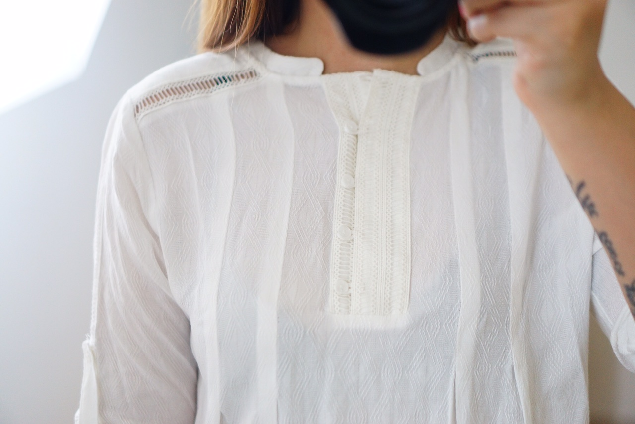 Stitch Fix Market & Spruce Gunvalson Lattice Detail Tunic - TheFebruaryFox.com
